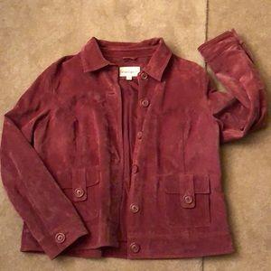 Cherokee genuine leather blazer/jacket in mauve